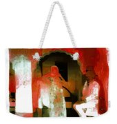 Hanging Out Travel Exotic Arches Red Abstract Square India Rajasthan 1e Weekender Tote Bag