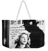 Hanna Maron And The Shadow Of Peter Lorre In M  1931 Weekender Tote Bag