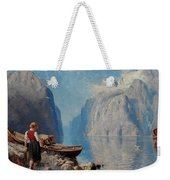 Hans Dah,  B. 1849. D. 1937. Norwegian Girl By The Sea Weekender Tote Bag