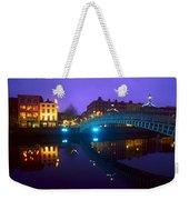 Hapenny Bridge, Dublin, Ireland Weekender Tote Bag
