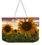 Happiness Is A Field Of Sunflowers Weekender Tote Bag