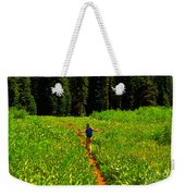 Happiness Is A Trail Weekender Tote Bag