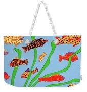 Happy Aquarium Weekender Tote Bag