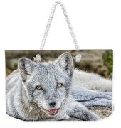 Happy Arctic Fox Weekender Tote Bag