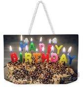 Happy Birthday Candles Weekender Tote Bag
