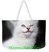 Happy Birthday Kitty Weekender Tote Bag