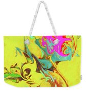 Happy Birthday Lilac Breasted Roller Abstract Weekender Tote Bag