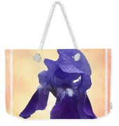 Happy Birthday Purple Iris Weekender Tote Bag
