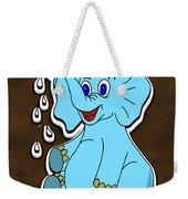 Happy Blue Elephant Gingerbread Weekender Tote Bag