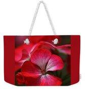 Happy Bright Geranium And Design Weekender Tote Bag