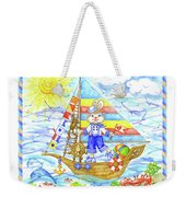 Happy Bunny On The Boat Weekender Tote Bag