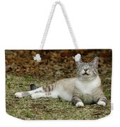 Happy Cat Weekender Tote Bag