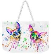 Happy Chihuahuas Weekender Tote Bag