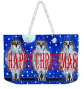 Happy Christmas 94 Weekender Tote Bag by Patrick J Murphy