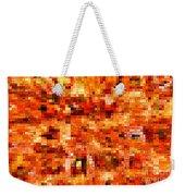 Happy Colors Abstract Weekender Tote Bag by Carol Groenen