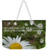 Happy Daisy Quote Weekender Tote Bag
