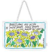 Happy Days W Blue Weekender Tote Bag