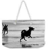 Happy Dog Black And White Weekender Tote Bag