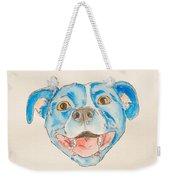 Happy Dog Blue Weekender Tote Bag