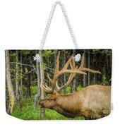 Happy Elk Weekender Tote Bag
