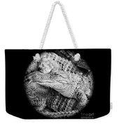 Happy Gator Black And White Weekender Tote Bag