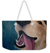 Happy Golden Retriever Weekender Tote Bag