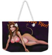 Happy Halloween Tiger Weekender Tote Bag