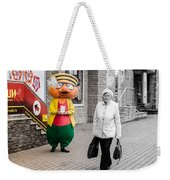 Happy Hamster And Od Woman Colour Art Weekender Tote Bag