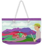 Happy Highland Farm Weekender Tote Bag