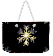 Happy Holiday Snowflakes Weekender Tote Bag
