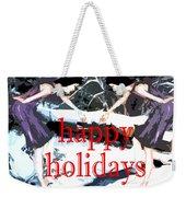 Happy Holidays 30 Weekender Tote Bag