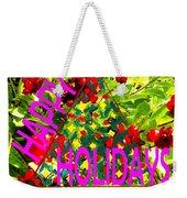 Happy Holidays 9 Weekender Tote Bag by Patrick J Murphy