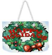 Happy Holidays Weekender Tote Bag