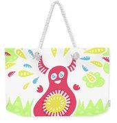 Happy Jumping Creature Weekender Tote Bag