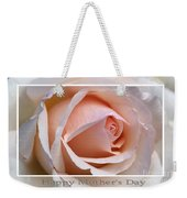 Happy Mother's Day Soft Rose Weekender Tote Bag