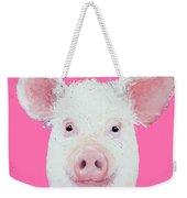 Happy Pig Portrait Weekender Tote Bag
