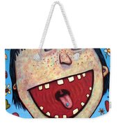 Happy Pill Weekender Tote Bag by James W Johnson