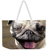 Happy Pug Weekender Tote Bag