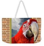 Happy Red Parrot Weekender Tote Bag