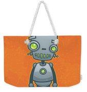 Happy Robot Weekender Tote Bag by John Schwegel