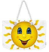 Happy Smiling Sun Weekender Tote Bag