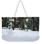Happy Snowman Weekender Tote Bag