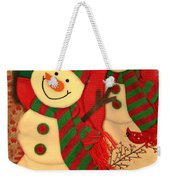 Happy Snowmen Weekender Tote Bag