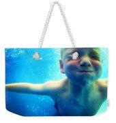 Happy Under Water Pool Boy Square Weekender Tote Bag