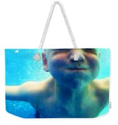 Happy Under Water Pool Boy Vertical Weekender Tote Bag
