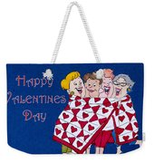 Happy Valentine Day Weekender Tote Bag