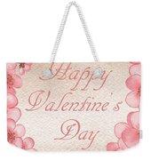 Happy Valentine Pink Heart Weekender Tote Bag