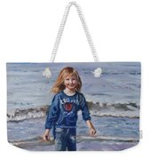Happy With Sea And Sand Weekender Tote Bag