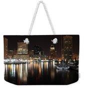 Harbor Nights - Baltimore Skyline Weekender Tote Bag