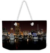 Harbor Nights - Trade Center In Focus Weekender Tote Bag